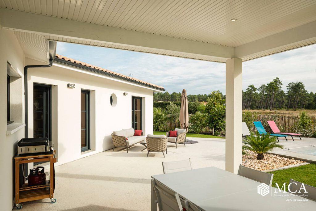 terrasse maison arcachon