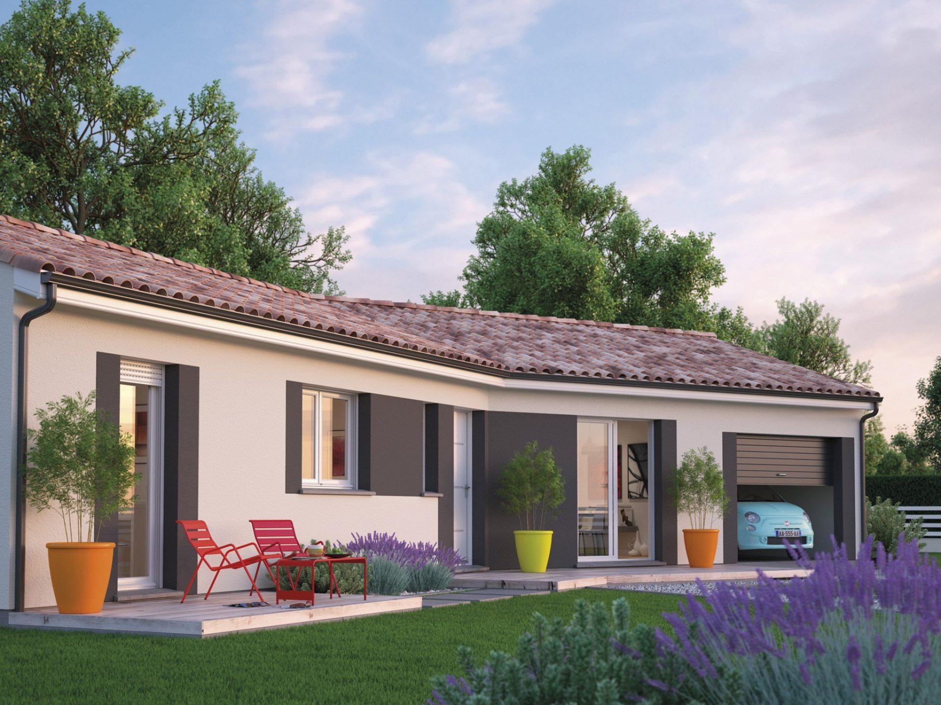 La maison Garonne   69 à 107 m²   2 ou 3 chambres