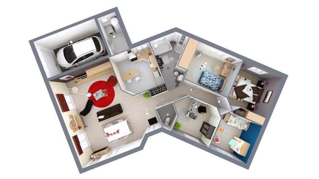 Selection De Plan De Maison Avec 3 Chambres 13