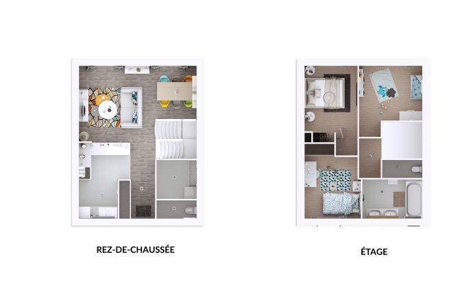 Plan 3D City | 80 m²