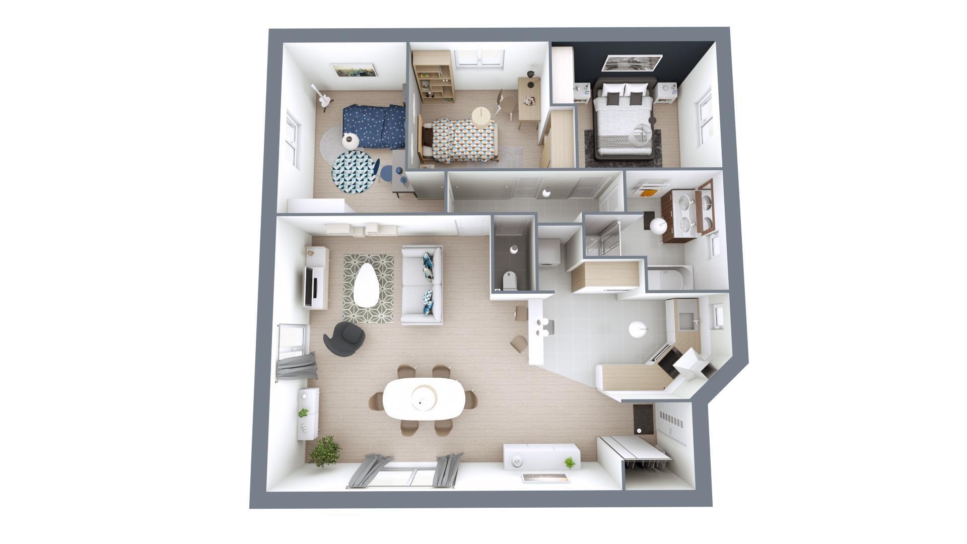 Plan3D Prisma | 90 m²