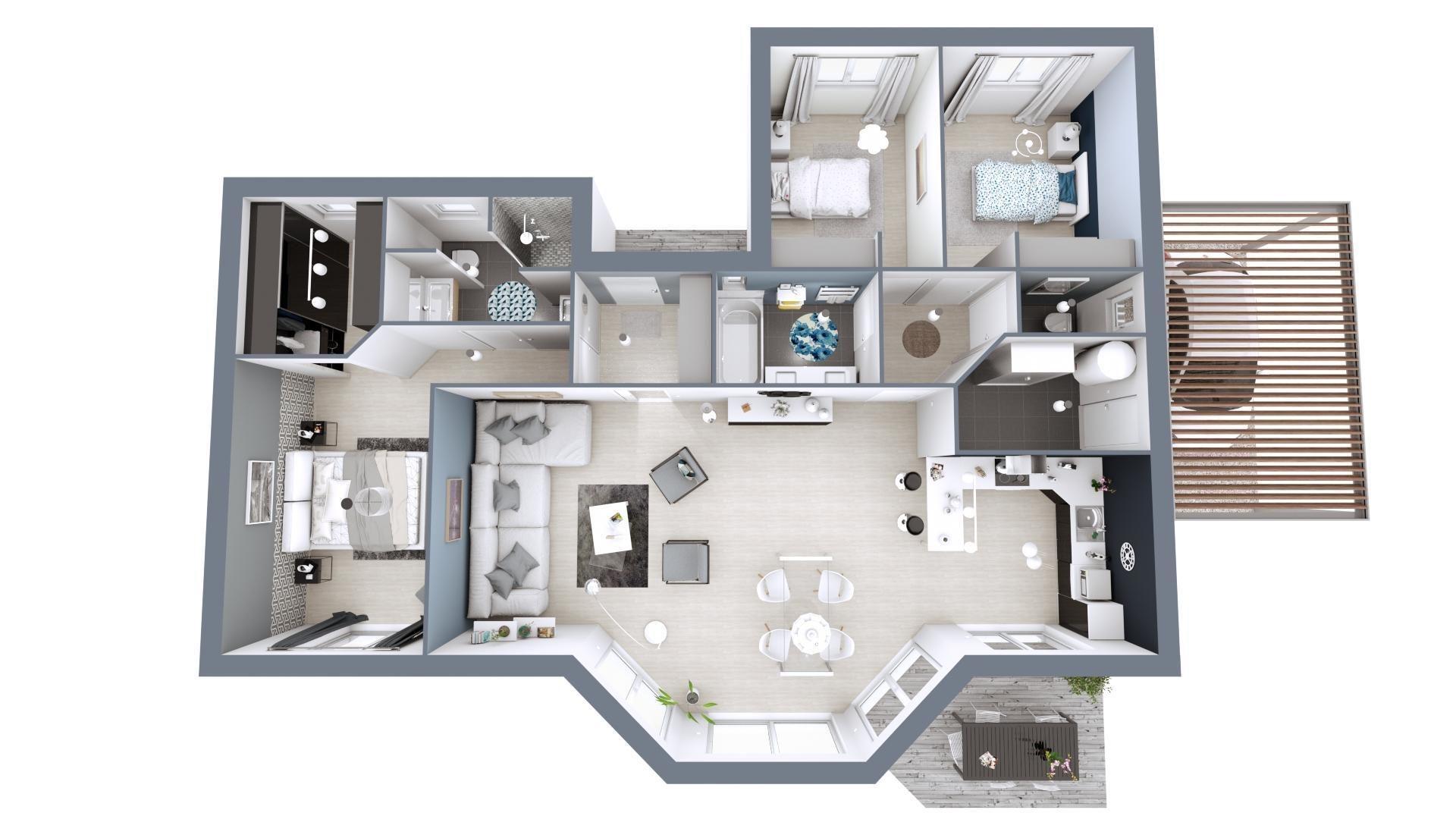Plan3D lumiere | 107m²