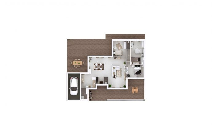 Plan 3D Evolution | 108 m²