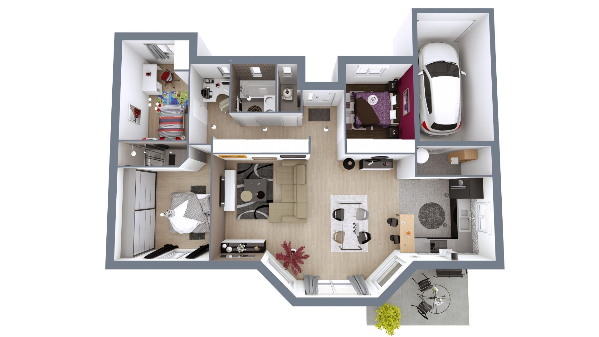 Plan De Maison Moderne modèle de maison eos | 101 m² | 3 chambres | maisons mca
