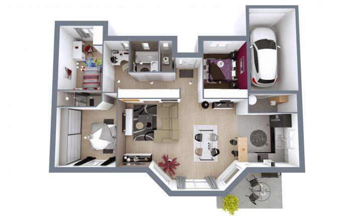 Plan 3D Eos | 101 m²