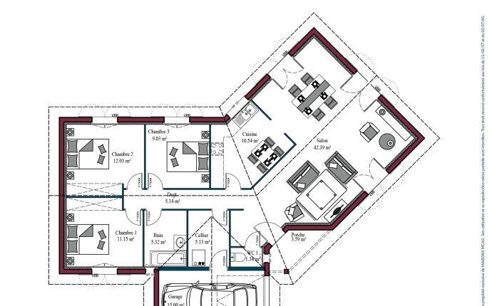 Plan Florintxa | 102 m²