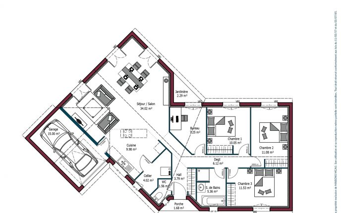 Plan Florintxa | 104 m²