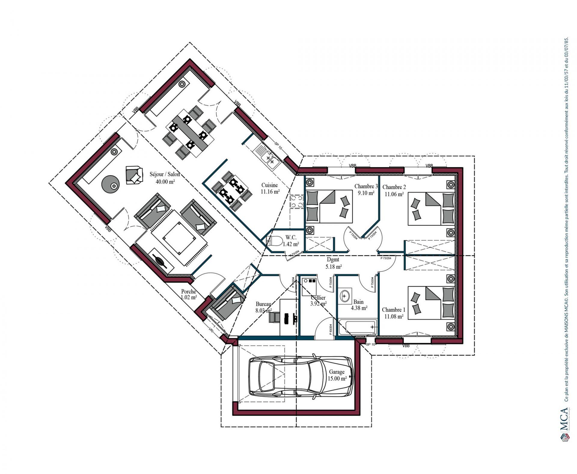 Plan Florintxa | 105 m²