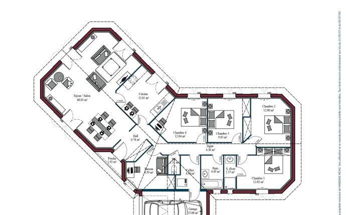 Plan Florintxa | 132 m²