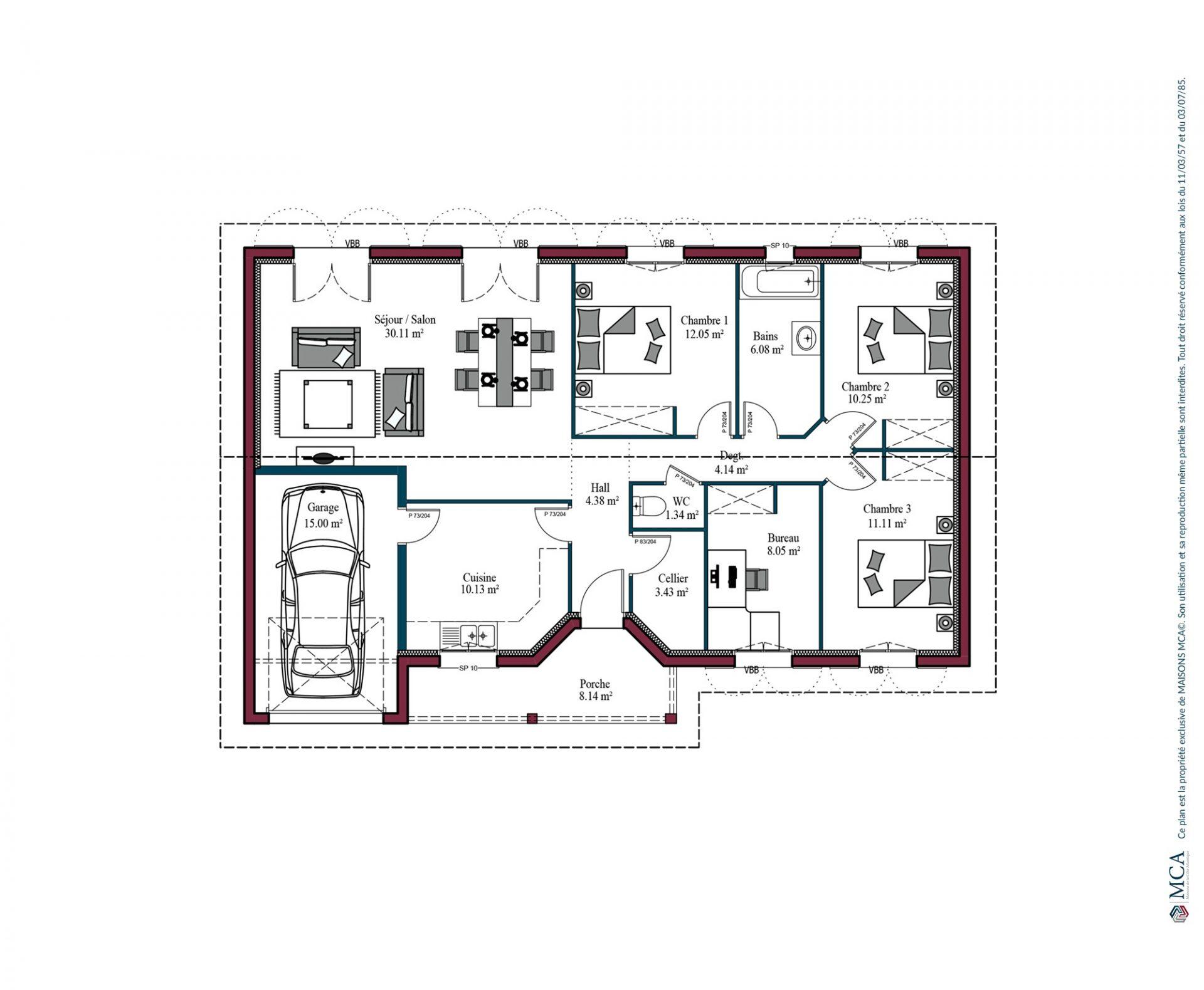 Plan Argia   101 m²