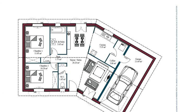 Plan Garoa | 69 m²