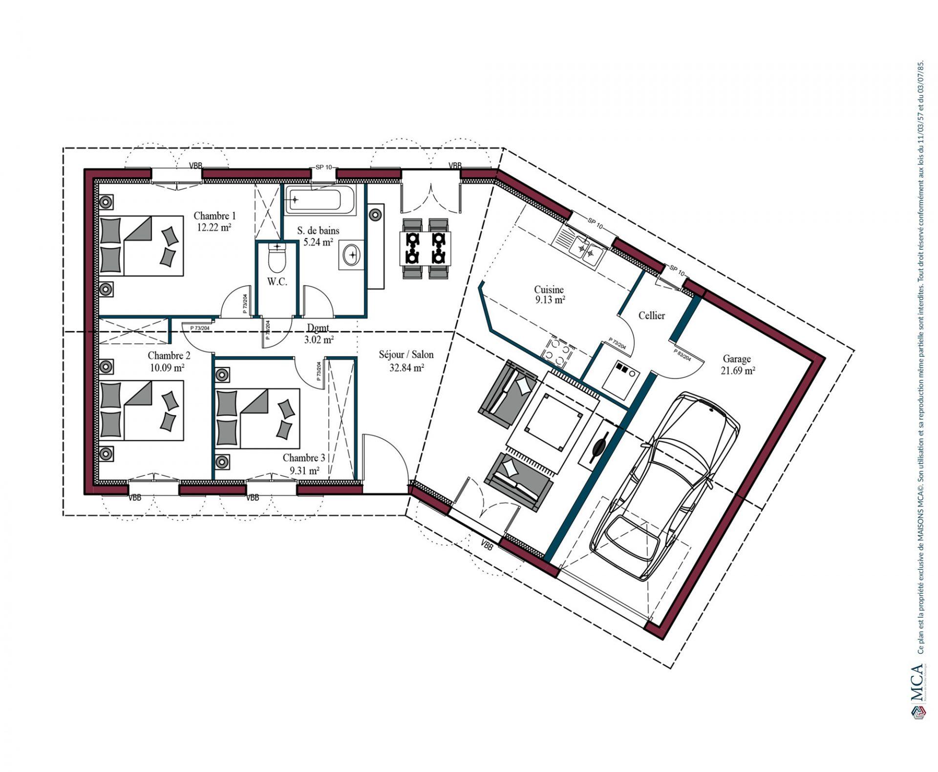 Plan Garoa | 87 m²