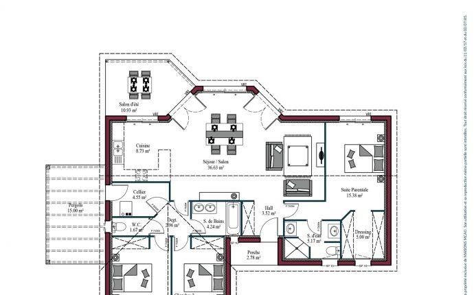 Plan Maison basque Haritza   107 m²