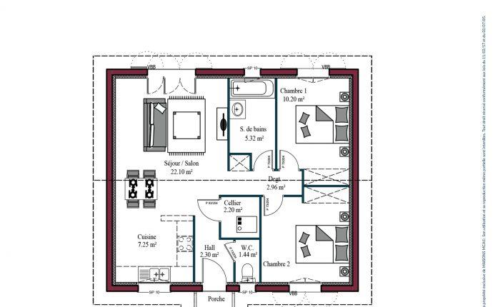 Plan Izarra | 68 m²