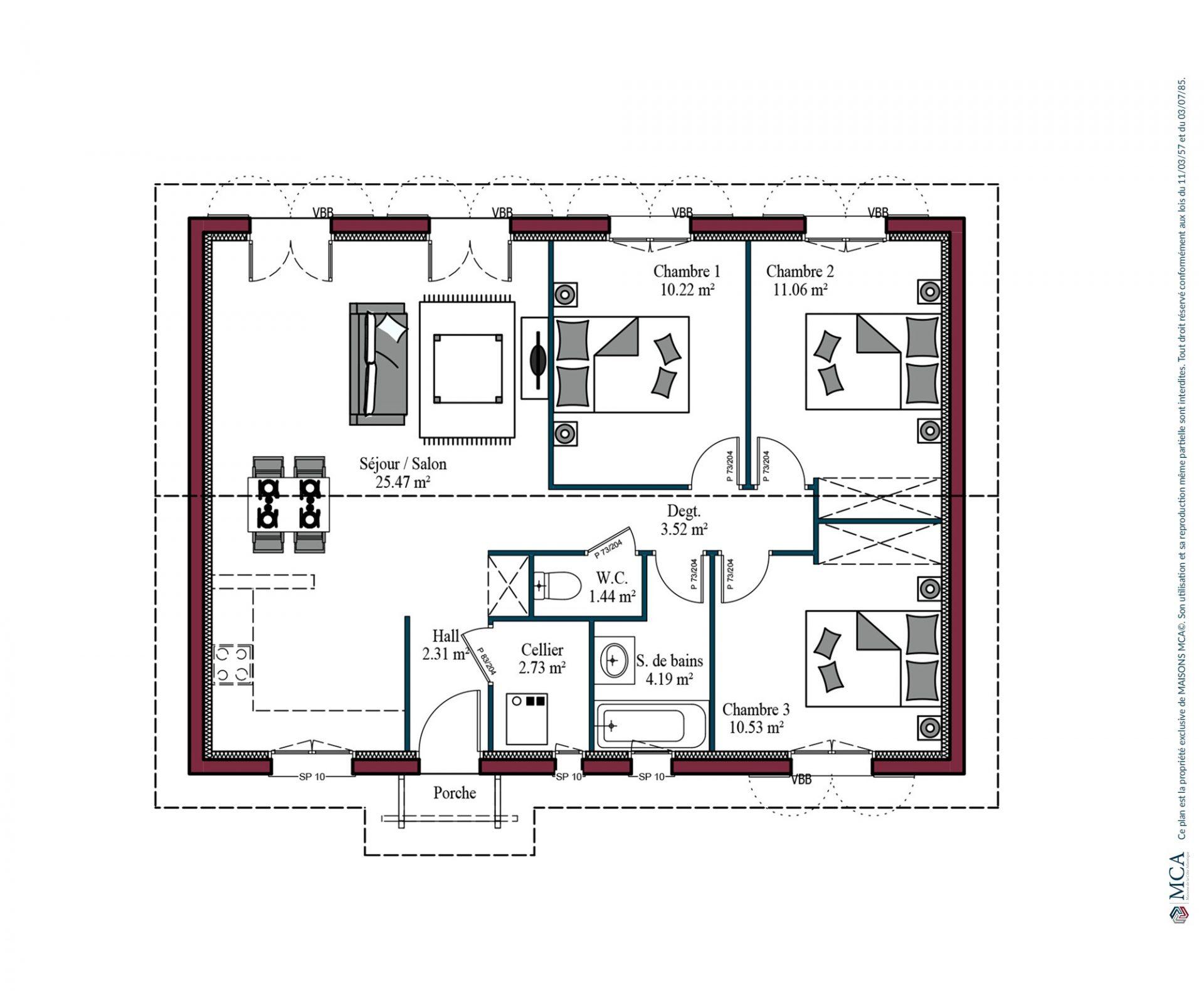 Plan Izarra | 78 m²