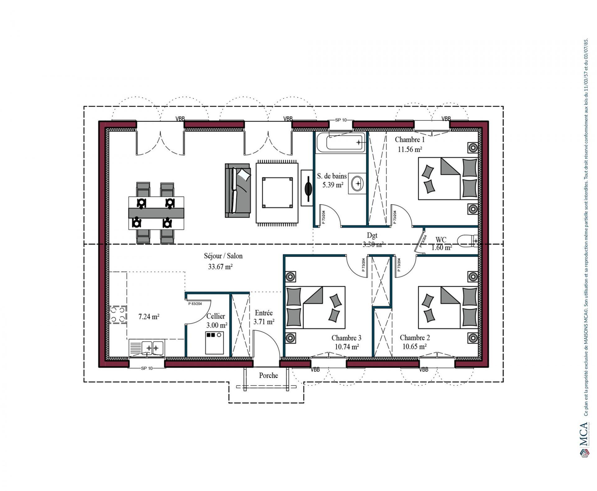 Plan Izarra | 90 m²