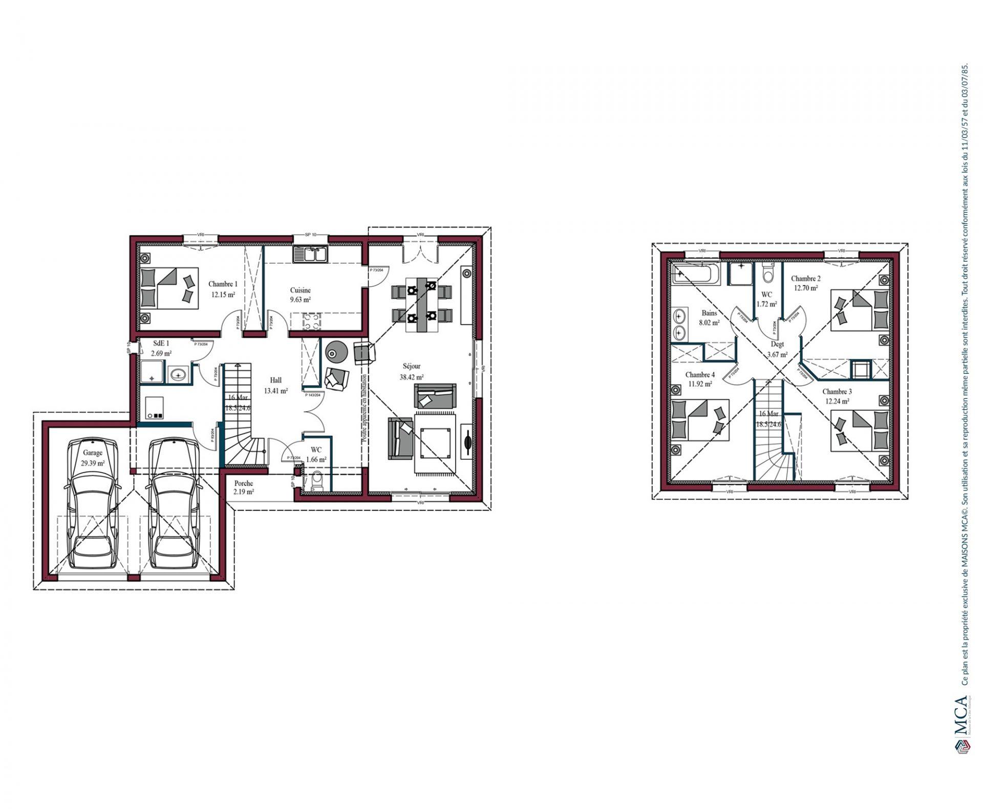 Plan Birdie | 132 m²