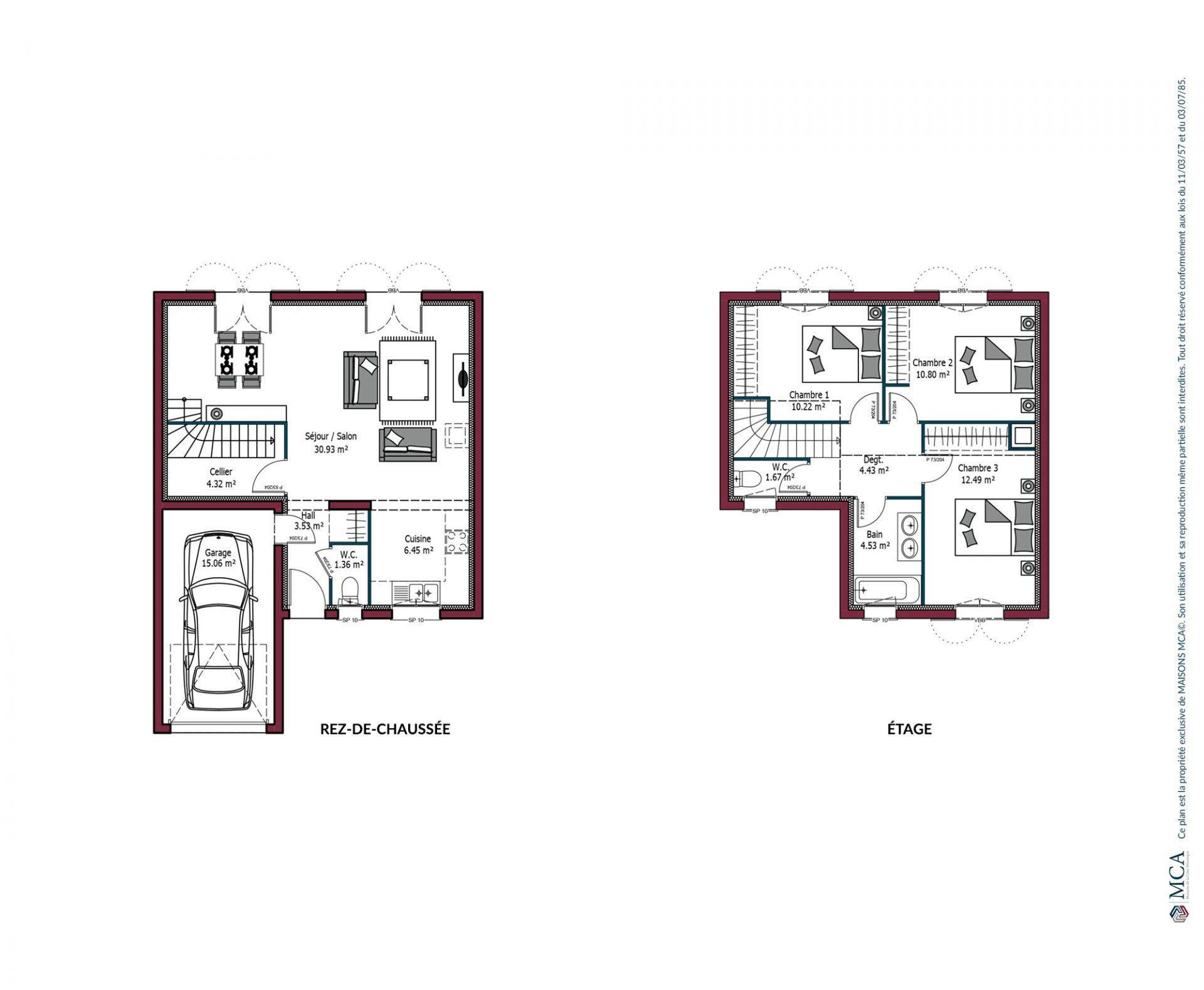 Plan Citadine | 90 m²