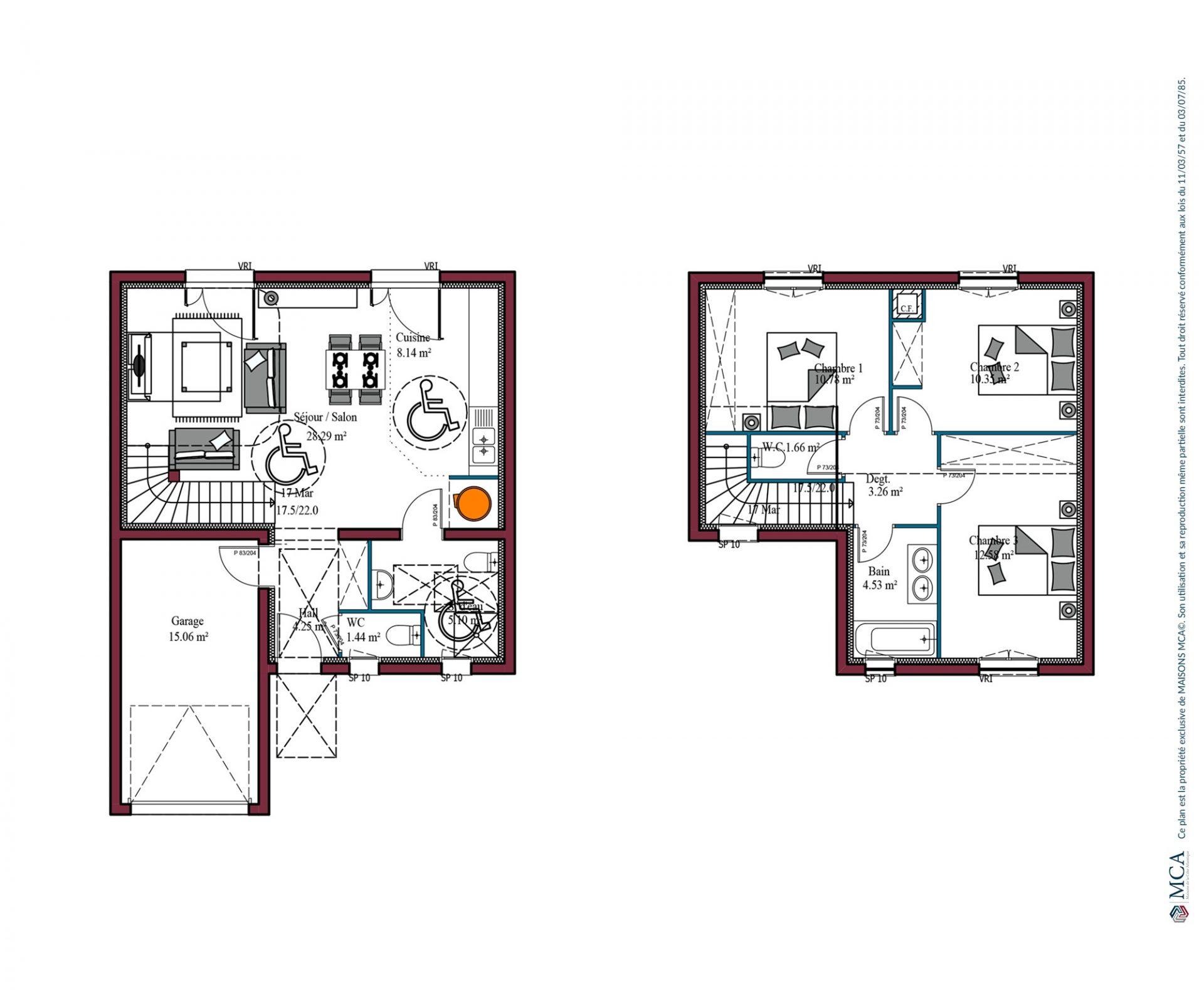 Plan Citadine investisseur | 90 m²
