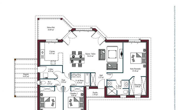 Plan Lumière Zen | 107 m²