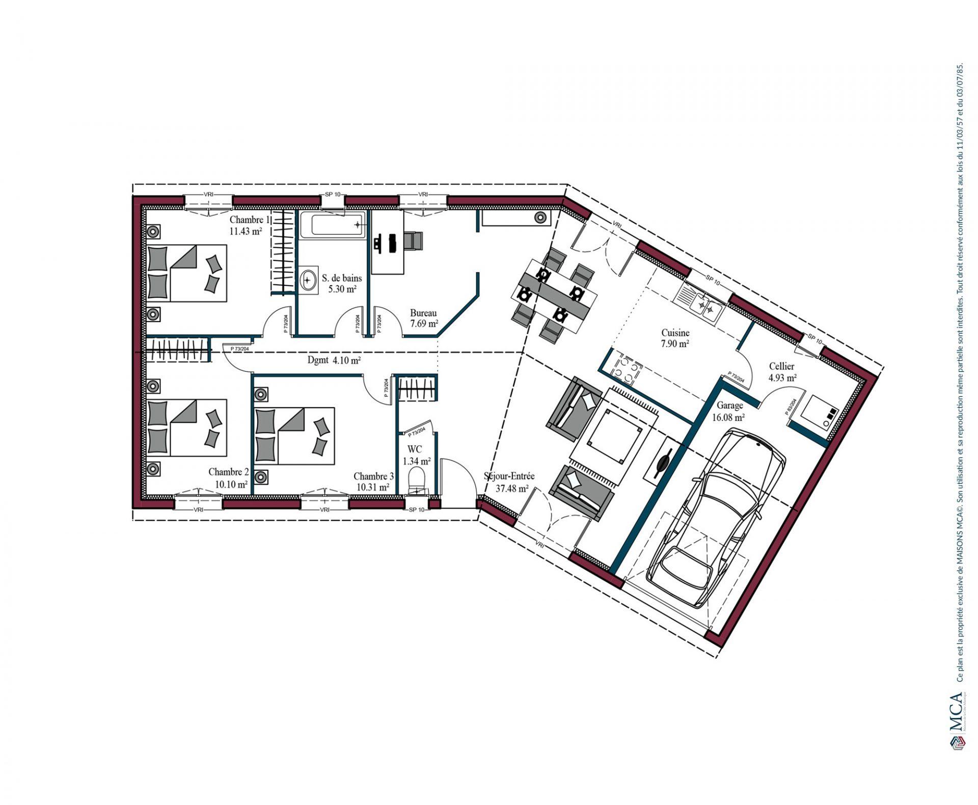 Plan Garonne   100 m²
