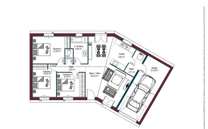 Plan Garonne   80 m²