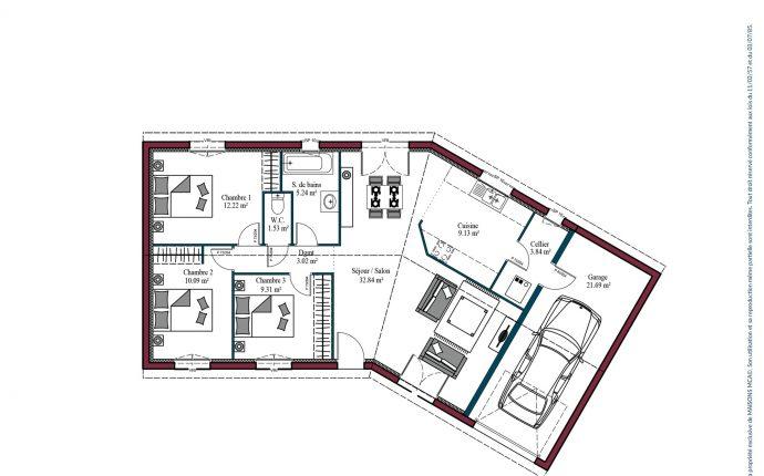 Plan Garonne   87 m²
