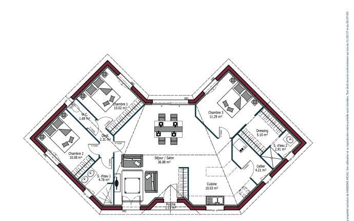 Plan Lotus | 99 m²