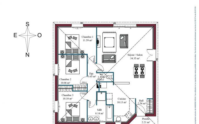 Plan Prisma | 90 m²