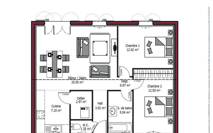 Plan Rivage | 70 m²