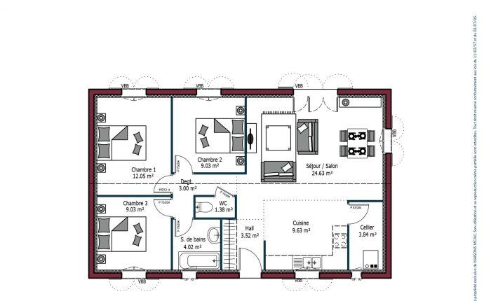Plan Désirée | 80 m²