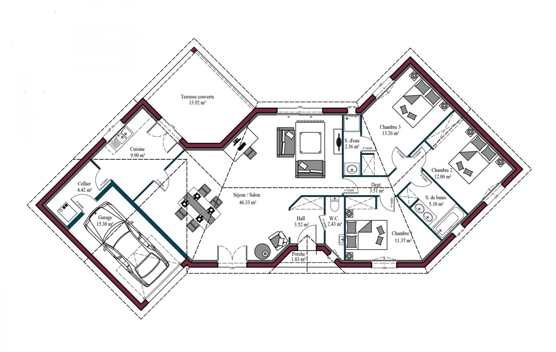Plan Diamant | 114 m²