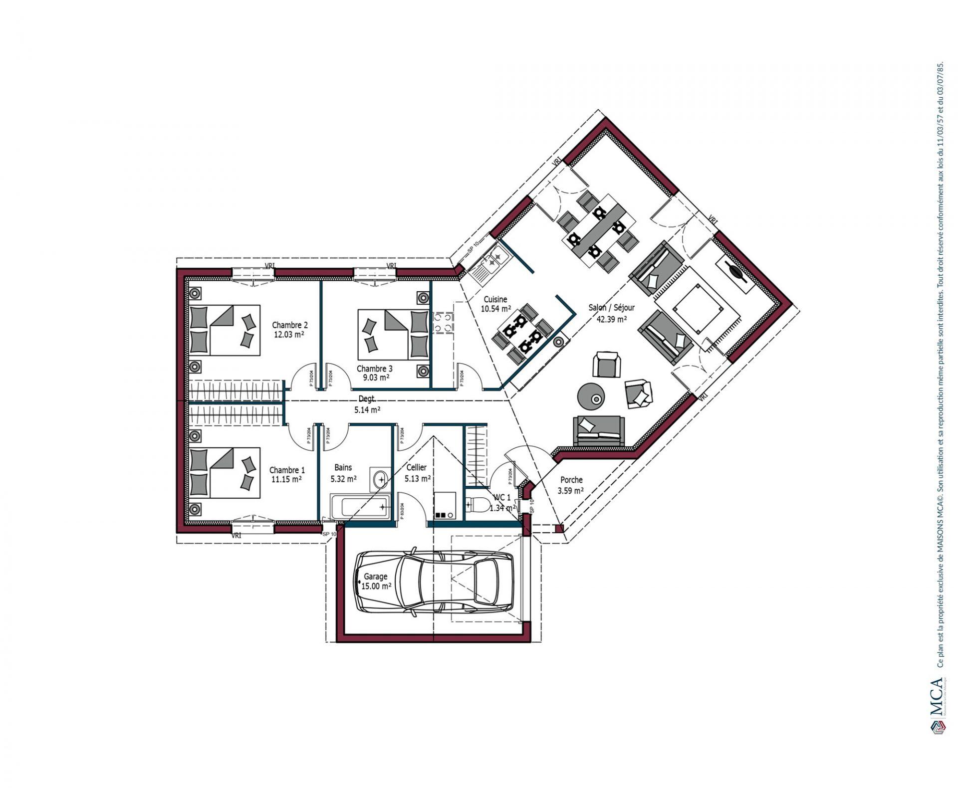 Plan Floride | 102 m²