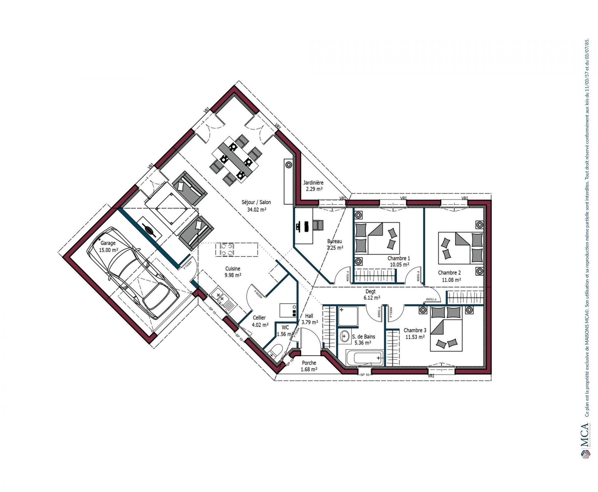 Plan Floride | 104 m²