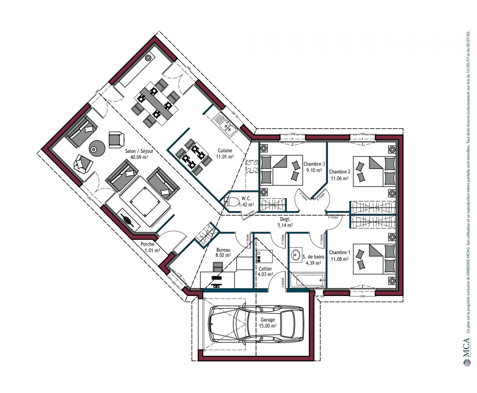 Plan Floride | 105 m²