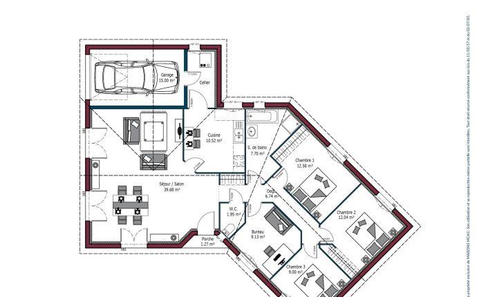 Plan Floride | 113 m²