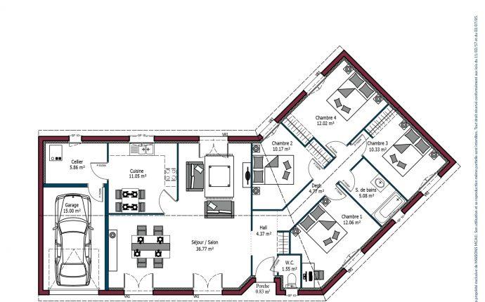Plan Floride | 114 m²