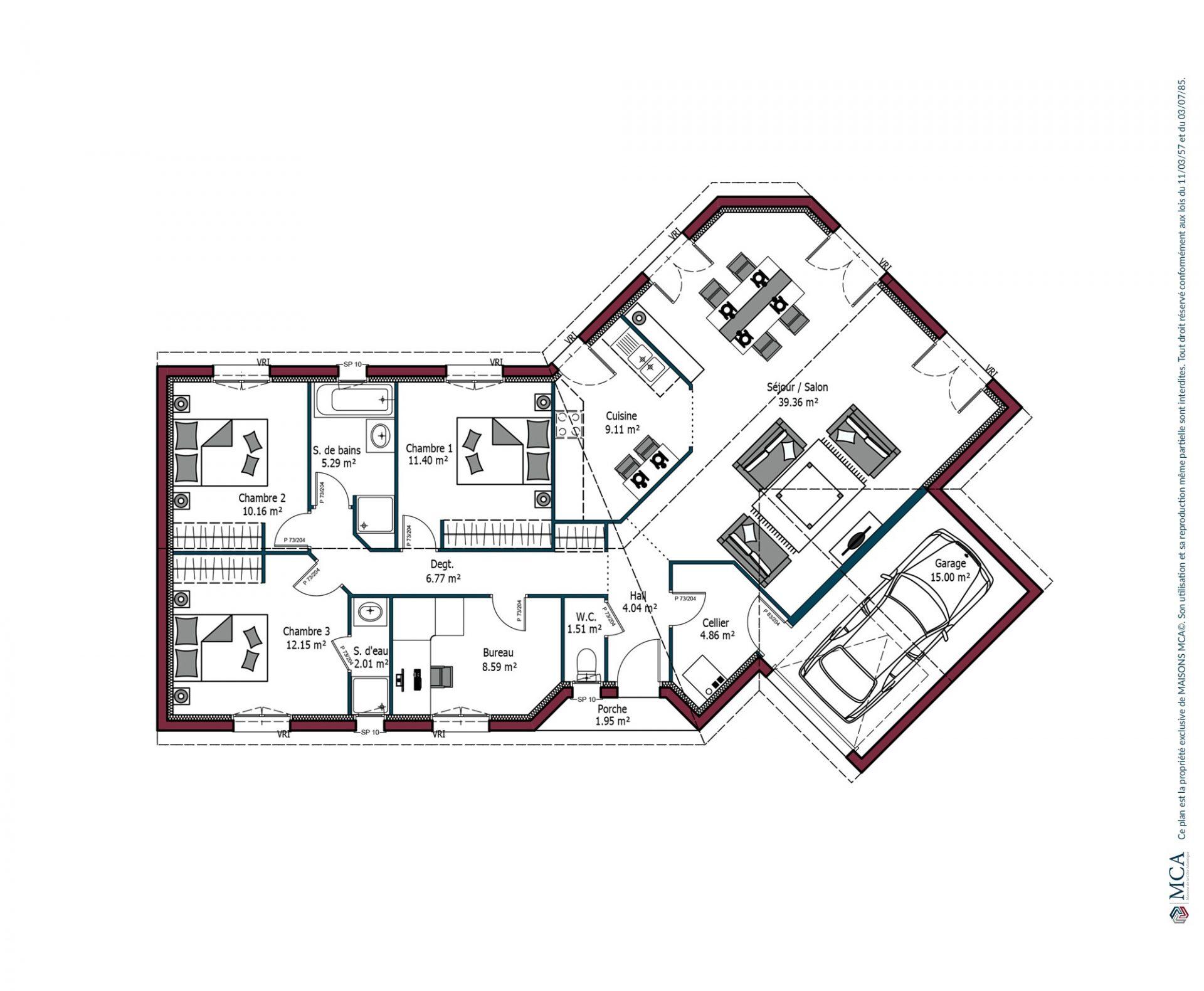 Plan Floride | 115 m²