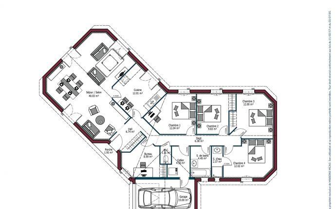 Plan Floride | 132 m²