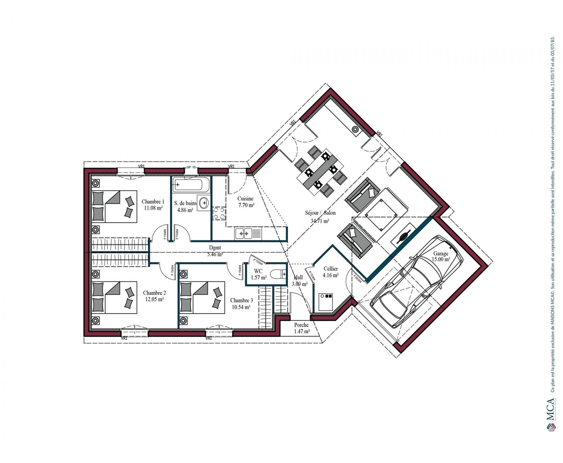 Plan Floride | 95 m²