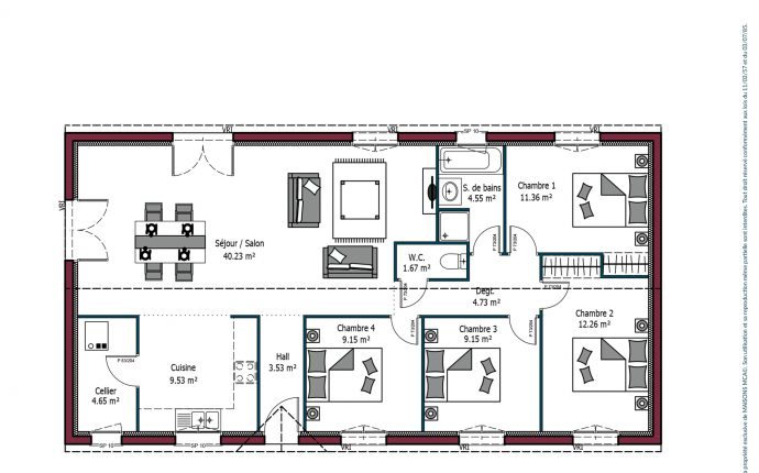 Plan Paradis | 110 m²