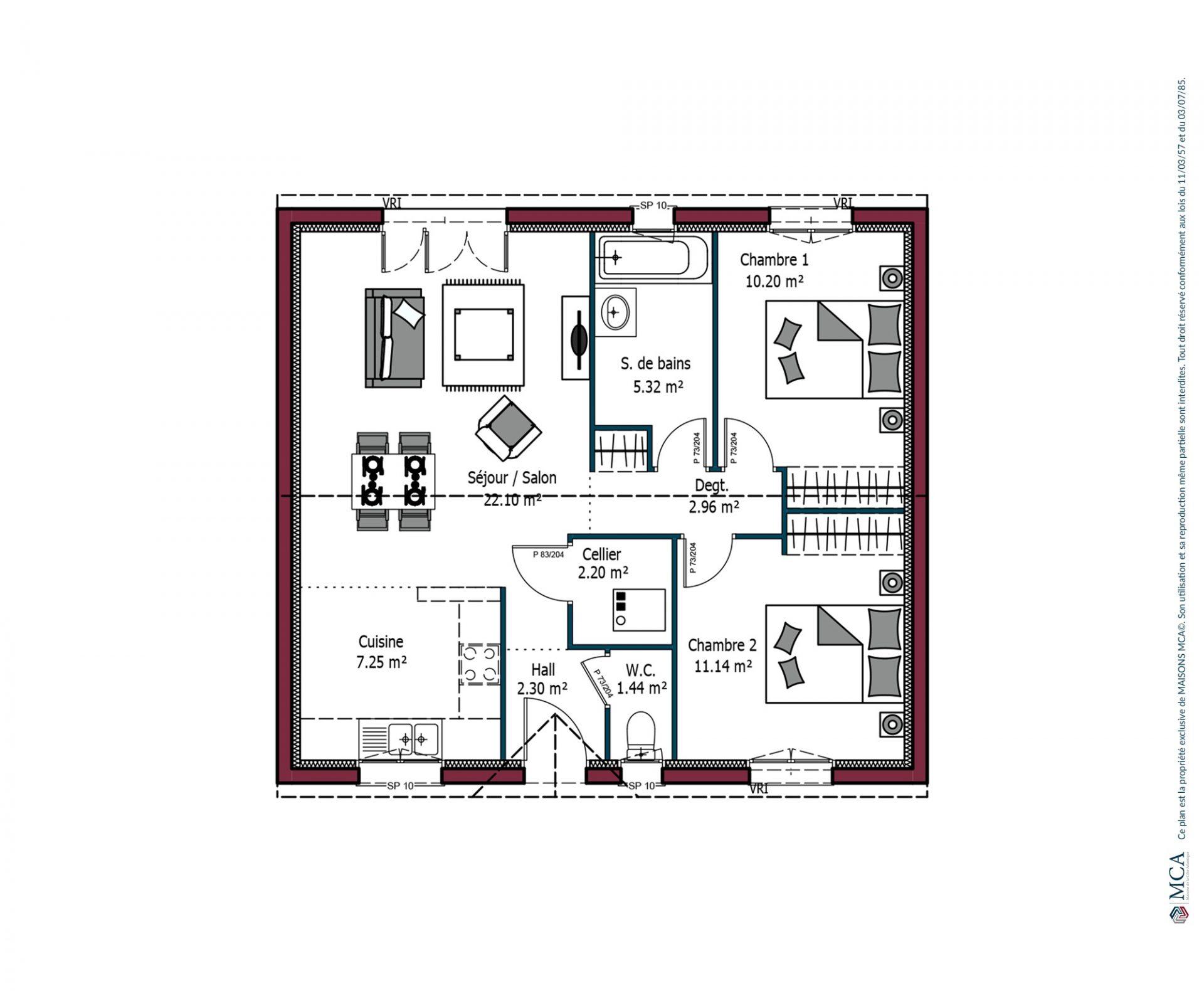 Plan Paradis | 64 m²
