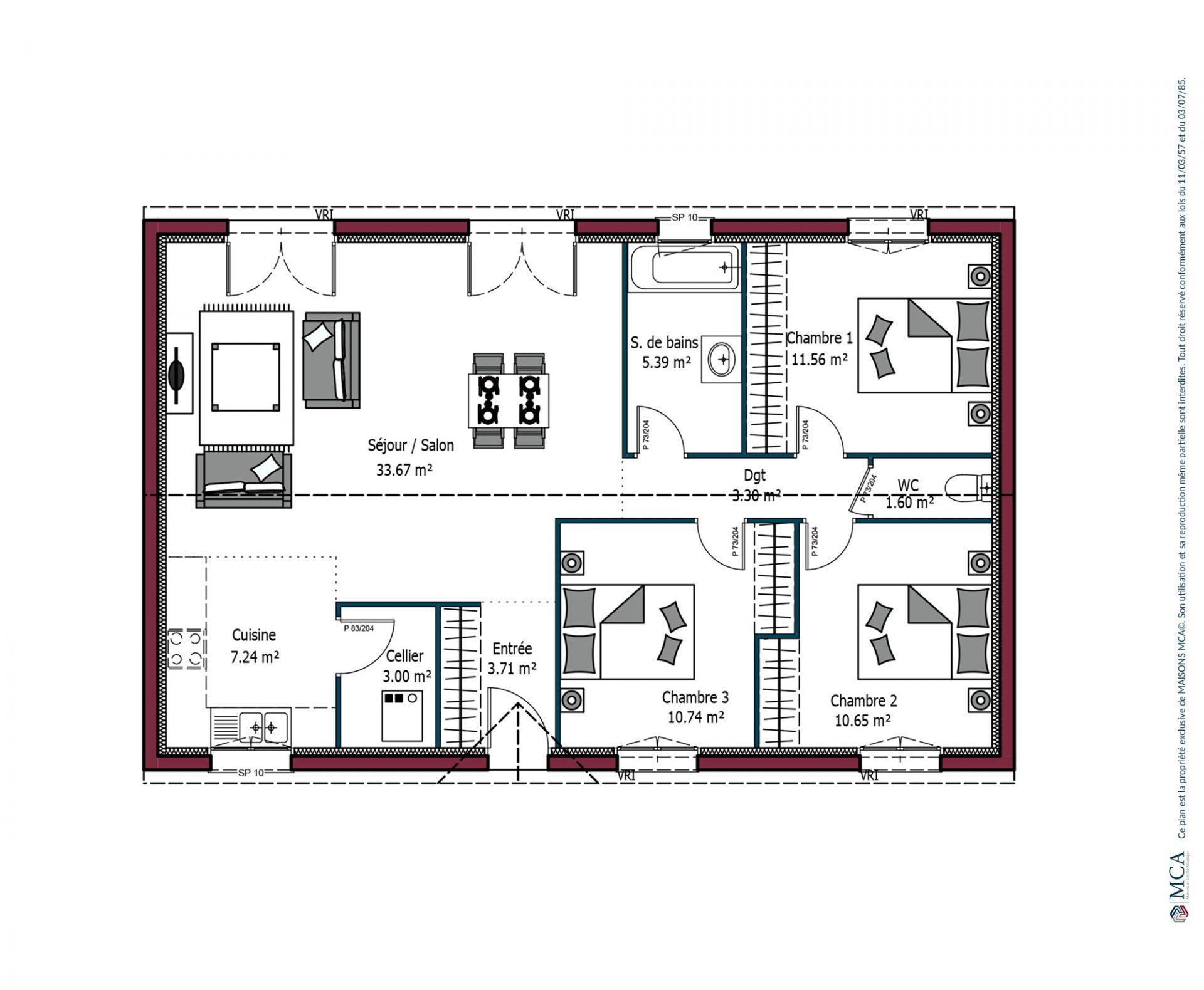 Plan Paradis | 90 m²