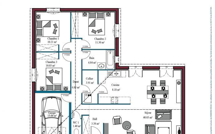 plan Aunis | 100 m²