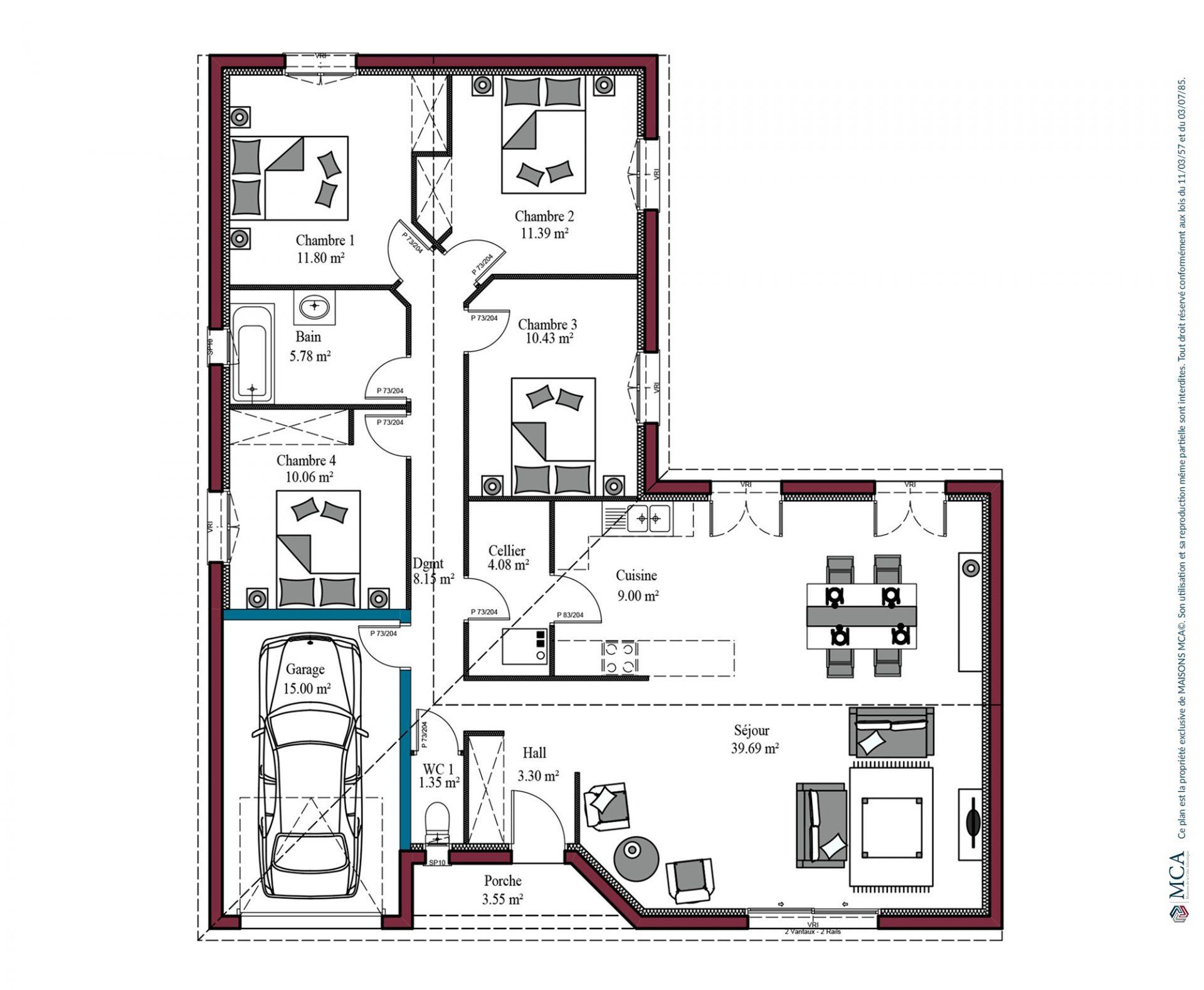 plan Aunis | 115 m²