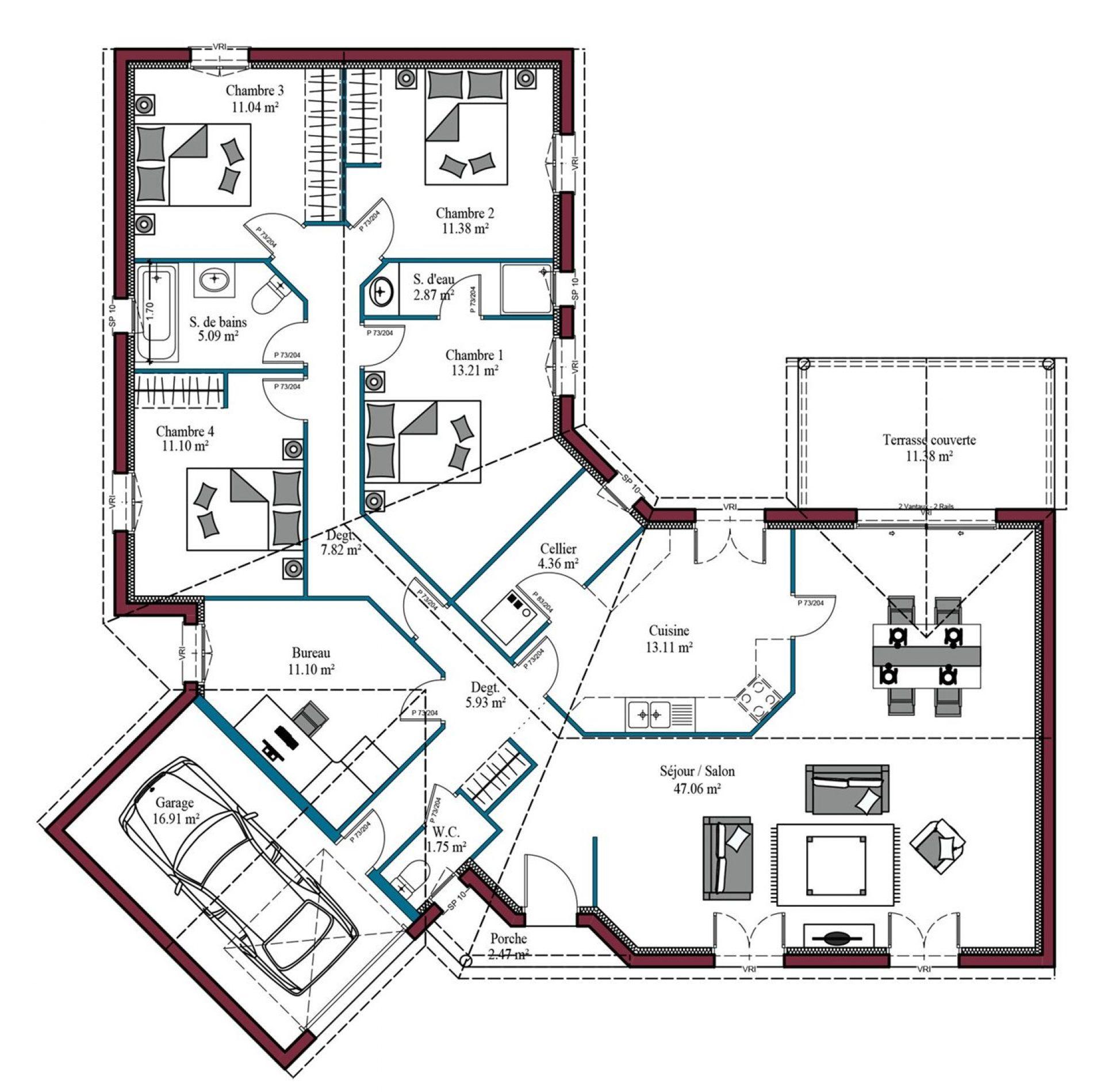 Plan Oléron | 145 m²