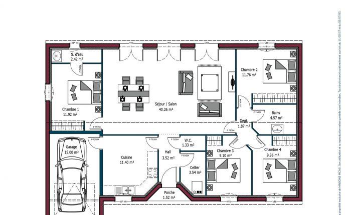 Modèle de maison Rochelle | 84 à 128 m² | 3-4 chambres | Maisons MCA