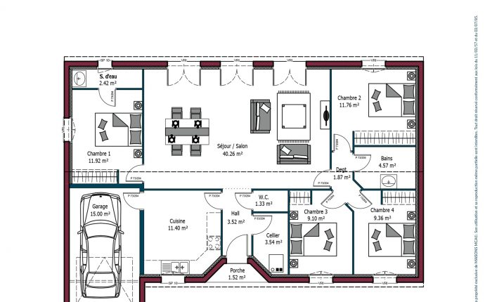 Plan Rochelle | 111 m²