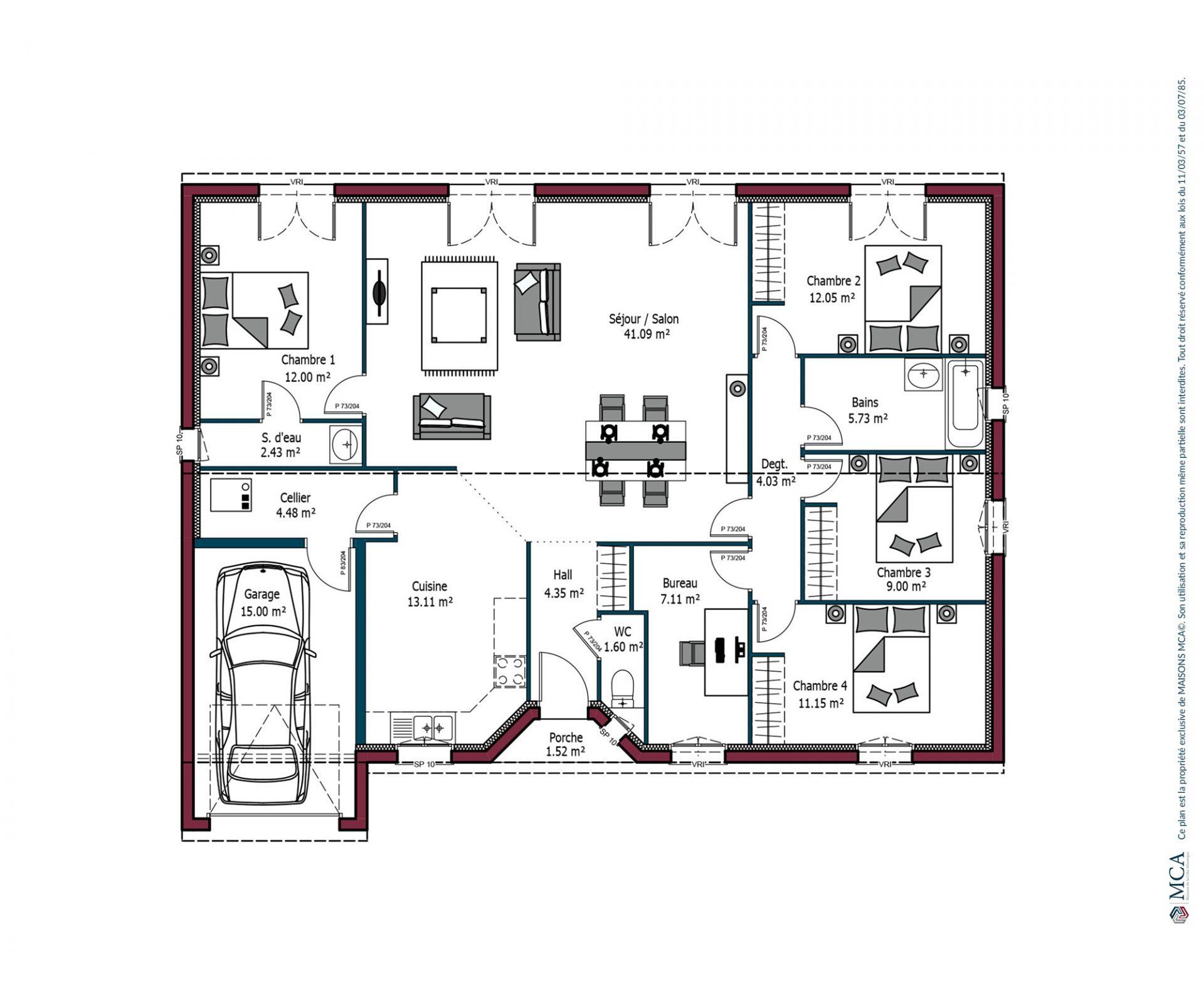 Plan Rochelle | 128 m²