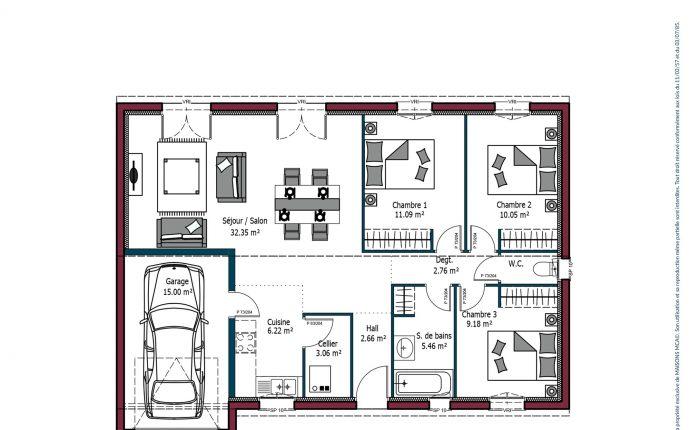 Plan Rochelle | 84 m²